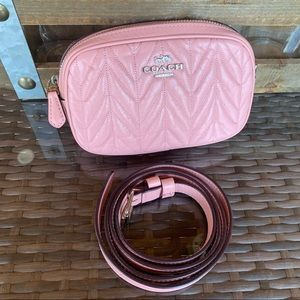 Coach Quilted Soft Leather Waist Pack Fanny Pack